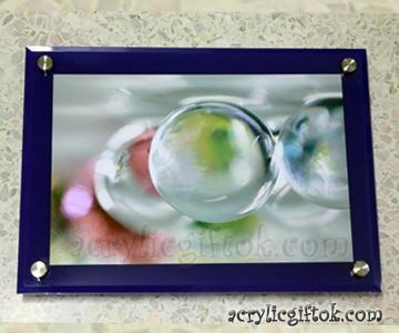 กรอบรูปติดผนัง (8X12) สีน้ำเงิน