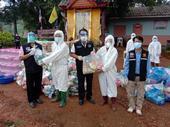 ลงพื้นที่มอบถุงยังชีพ ให้กับผู้กักตัวที่ได้กลับบ้าน ณ บ้านหนองเต่า