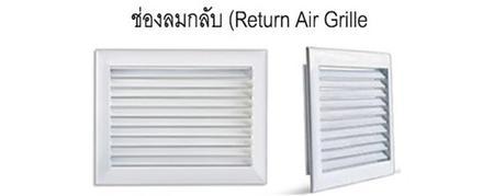 ช่องลมกลับ (Return Air Grille)