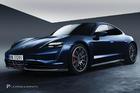 สเกิร์ตข้าง Carbon Fiber Porsche Taycan ทรง Zyrus