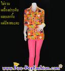 เสื้อลายดอกผู้หญิง เสื้อสงกรานต์ผู้หญิง เชิ้ตลายดอกผู้หญิง เสื้อย้อนยุคผู้หญิง (ไซส์ XXL : รอบอก 38 นิ้ว) (ดูไซส์ส่วนอื่น คลิ๊กค่ะ)
