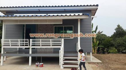 18 บ้านสีเทาหลังคาน้ำเงิน