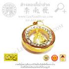 พระพุทธชินราชล้อมพลอยขนาดกลาง(ขนาด12มิล) ทอง 90%