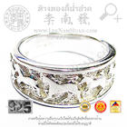 SR086 แหวนแกะลายรูปม้าล้อมรอบ(น้ำหนักโดยประมาณ3.9กรัม) (เงิน 92.5%)