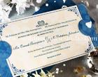 การ์ดแต่งงาน การ์ดพร้อมไส้ สีฟ้าครีม รหัส 9-0046