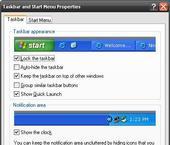 จัดการกับ taskbar บน Windows XP
