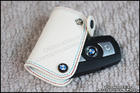 BMW White Leather Key Cover