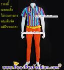 เสื้อผู้ชายสีสด เชิ้ตผู้ชายสีสด ชุดแหยม เสื้อแบบแหยม ชุดพี่คล้าว ชุดย้อนยุคผู้ชาย เสื้อสีสดผู้ชาย เชิ้ตสีสด (XL:รอบอก 40) (JK) (ดูไซส์ส่วนอื่น คลิ๊กค่ะ)