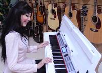 เปีนโนตัวใหม่ล่าสุด เปียโนไฟฟ้า Romeo 88 คีย์ สีขาว