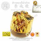 เม็ดโอ่งตัดลาย(ขนาด10มิล)(น้ำหนักโดยประมาณ1.0กรัม)ทอง 90%