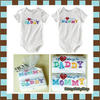 ชุดบอดี้สูท My love belongs to daddy & mommy (Baby Gap) 2 pieces set