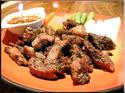 DF24 เนื้อย่างพริกไทยดำ (Roast beef with black pepper)