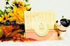 การ์ดแต่งงาน พับสามตอน สีโอรส  VIP 51-51