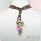 พีโยเต้ สร้อยคอดอก Fushia 4 ดอก