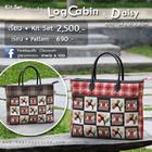 คอร์สที่ 5 กระเป๋า Log Cabin & Daisy