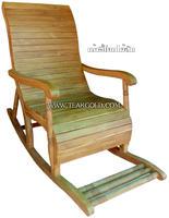 เก้าอี้โยกไม้สัก