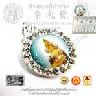 ล็อกเก็ตล้อมพลอยขนาด12มิล(พระพุทธชินราช) (เงิน 92.5%)