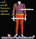 เสื้อผู้ชายสีสด เชิ้ตผู้ชายสีสด ชุดแหยม เสื้อแบบแหยม ชุดพี่คล้าว ชุดย้อนยุคผู้ชาย เสื้อเชิ๊ตผู้ชายสีสด (ไซส์ XL รอบอก41)(PO) (ดูไซส์ส่วนอื่น คลิ๊กค่ะ)