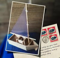 Carft stick sailing boat