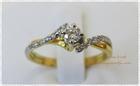 GR0248 แหวนทองฝังเพชร