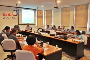 ประชุมการอบรมโครงการเสริมสร้างเครือข่าย อสม. ในการป้องกันและเฝ้าระวัง ปัญหายาเสพติด ระดับตำบล จังหวัดชุมพร ณ สสอ.ปะทิว