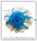 ดอกไม้ติดผม ดอกไม้ประดับผม กิ๊บติดผม กิ๊บดอกไม้ ที่ติดผมดอกไม้ผ้าดอกใหญ่ โดดเด่นมากๆ ค่ะ (ดอกไม้ติดผมสีฟ้า) (ขนาด ประมาณ 20 ซม.) (ดูไซส์ คลิ๊กค่ะ)