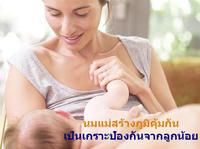 นมแม่สร้างภูมิคุ้มกันเป็นเกราะป้องกันร่างกายลูกน้อง