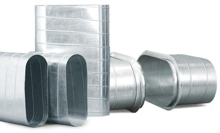 ท่อ spiral วงรีและข้อต่อ (Spiral Flat Oval Duct & Fitting)