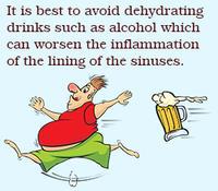 อาหารที่ควรหลีกเลี่ยงเมื่อมีอาการติดเชื้อไซนัส