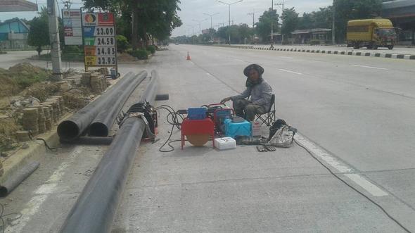 งานวางท่อประปา HDPE