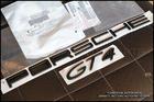 โลโก้ PORSCHE GT4 สีดำ ติดท้ายรถของแท้