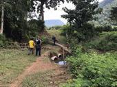 สำรวจพื้นที่น้ำเอ่อล้นทางไปสนามกีฬาบ้านป่าตึงงาม หมู่ที่ 14