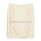 กระโปรงทรงสอบ Twin Pleated Skirt ผ้าคอตต้อนญี่ปุ่นพิมพ์ลายดอกไม้ ด้านหน้ากระโปรงจับจีบทวิช ดีไซน์เรียบหรู