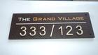 ป้ายบ้านเลขที่โครงการ The Grand Village เชียงใหม่