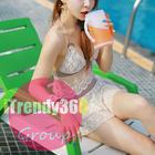 [หมด] STR-0501 ชุดว่ายน้ำแฟชั่นสไตล์เกาหลี แบบ 3 ชิ้น (บิกินี่ + บรา + กระโปรงมินิ) เพิ่มลูกเล่นชุดด้วยผ้าลูกไม้บังทรง