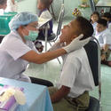 ตรวจสุขภาพฟันนักเรียน โรงเรียนเทศบาลพัฒนา