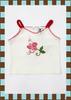 เสื้อยืดสายเดี่ยว B-BUSHH สีขาวปักลายดอกไม้