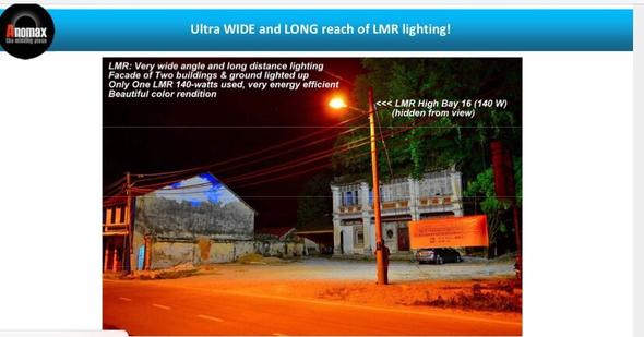 1 LMR (140watts) with wide angle & long distance h