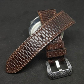 Panerai Watch with Strap Beaver Skin Brown Color