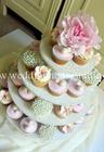 คัพเค้ก Custom Wedding Cupcake 3 ชั้น