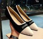 CHANEL รองเท้าคัทชู หัวเเหลม สีดำ SIZE 36-40