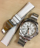 Strap For Rolex Watch.Calf White Color.