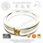 SR028 แหวนพลอยกลางข้างทราย(น้ำหนักโดยประมาณ3.4กรัม) (เงิน 92.5%)
