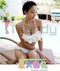 [หมด] STR-9006 Bikini 2 พีช แต่งระบายฟูฟ่อง น่ารักสุดๆ