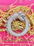 งูกินหาง บ่วงนาคบาศก์ ขนาดพกพา เนื้อแร่ เครื่องรางโชคลาภเงินทอง ยอดนิยม (ตอกโค๊ดทุกวง)
