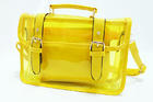 TB-5699-สีเหลือง-ราคาส่ง195ปลีก300บาท-กระเป๋าใสตัดเย็บสลับหนังสไตล์Cambridge-satchel-กระเป๋าใบเล็กด้านในแยกออกได้