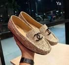 CHANEL รองเท้าคัทชู ผ้าแคนวาส สไตล์ chanel เรียบหรู สีขาว SIZE 36-40