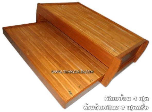 เตียงลิ้นชัก ขนาด4ฟุตไม้สัก_035