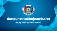 ขั้นตอนการกดเงินกู้ และเงินฝาก ผ่านตู้ ATM ธนาคารก