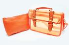 TB-5699-สีส้ม-ราคาส่ง195ปลีก300บาท-กระเป๋าใสตัดเย็บสลับหนังสไตล์Cambridge-satchel-กระเป๋าใบเล็กด้านในแยกออกได้